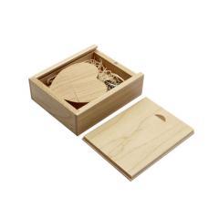 USB флешка Shandian сердце деревянное в деревянной
