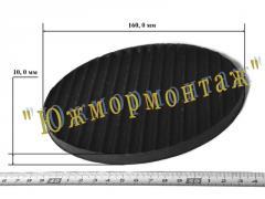 Диск резиновый ребристый 160*-10