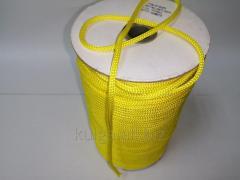 Шнур для одежды 4 мм желтый