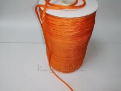 Шнур для одежды 4 мм оранжевый