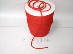 Шнур для одежды 4 мм красный