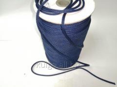 Шнур для одежды 4 мм темно-синий