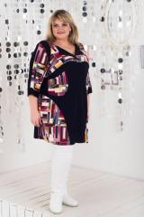 Fashionable, stylish, beautiful tunic large Tetris