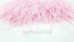 Страусиные перья на ленте - цвет  - розовый