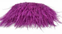 Страусиные перья на ленте - цвет  - фиалка