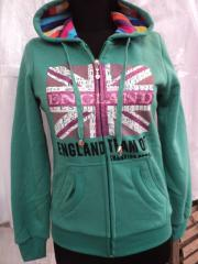 "Body shirt with a hood ""England"