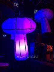 Felfújható gomba dekoráció világítással 2 méter
