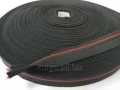 Резинка окантовочная пополамка 2, 3 см черная