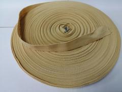 Резинка окантовочная пополамка 2,3 см бежевая