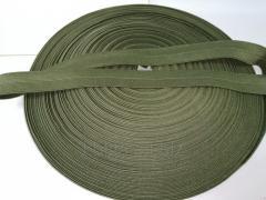 Резинка окантовочная пополамка 2,3 см хаки