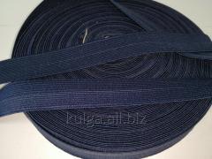 Резинка окантовочная пополамка 2,3 см темно-синяя