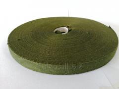 Лента киперная 13 мм хаки Х/Б (50м)