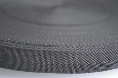 Лямовка D800 (окантовка наружная), 2.5 см (плотная) черная