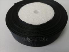 Тесьма репсовая 25 мм черная,  нейлон