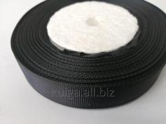 Тесьма репсовая 20 мм черная,  нейлон