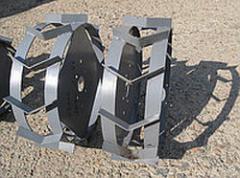 Kolesa-gruntozatsepy to motor-blocks, diameter is