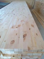 Мебельный щит из европейских лиственных пород дуб,