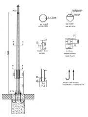 Оцинкованный столб 8 метров