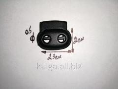 Фиксаторы для одежды черные (двойные) №1