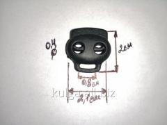 Фиксаторы для одежды черные (двойные) №3