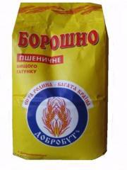 "Борошно вищого сорту ""Добробут"" 1.8кг * 8шт"