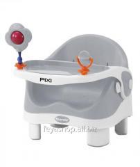 Стульчик для кормления PIXI GRAY&WHITE