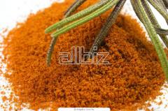 The paprika is dried