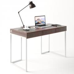 Компьютерный стол Fenster Моррис 2 Белый 73x120x60 столешница Коричневая