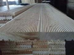 Wooden board Decking buy Ukraine made of pine,