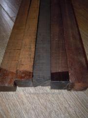 Exotisch hout, tropisch timmerhout en staven: eben