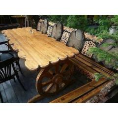 Садовая мебель из бруса