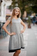 "DRESS ""BEATRICE"" HEATHER GRAY"