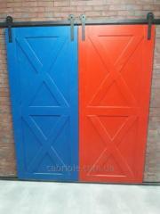 Двери лофт раздвижные  на роликах.