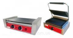 Набор грилей для хот-догов GoodFood роликовый HDRG7 + контактный Широкий ECG11