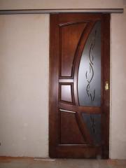 Дверь с витражом межкомнатные, стекло витражное от