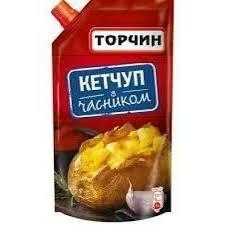 """Кетчуп з часником ТМ """"Торчин"""",  270 г * 38 шт"""