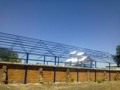 Hangar, production, welding, installation, Ukraine