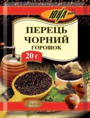 "Перець чорний горошком ТМ ""ЮНА"" , 20 г"
