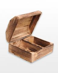 Wooden casket with a partition 30h25h16