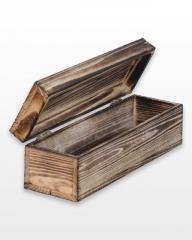 Wooden casket 36h11h11 for 1 bottle