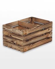 Ящик деревянный 60х40х30 обожженный короткая