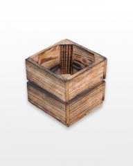 Ящик деревянный обожженный 15x15x15