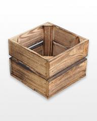 Ящик деревянный обожженный 20x20x15