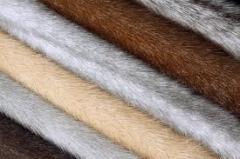 Fur of a mink