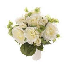 Декоративный букет роза с росой Польша