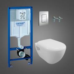 Инсталляционная система GROHE Solido Perfect Набор 4 в 1 с подвесным унитазом (39186000)