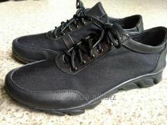Sneakers kozhanyecherny for police