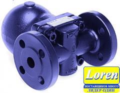Float-operated kondensatootvodchik pig-iron,
