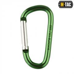 Карабин алюминевый M-Tac 80 мм зеленый