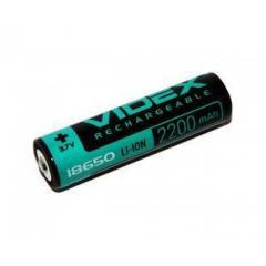 Аккумулятор Videx Li-ion 18650 3.7V 2200mAh с